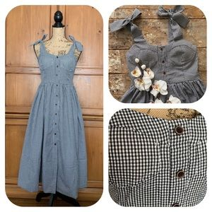 Chicwish Gingham Black & White Retro Chic Dress